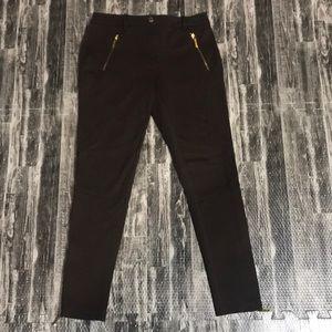 Michael Kors dress pants with gold zippers